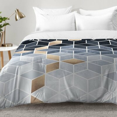 Soft Gradient Cubes Comforter Set Size: Twin XL