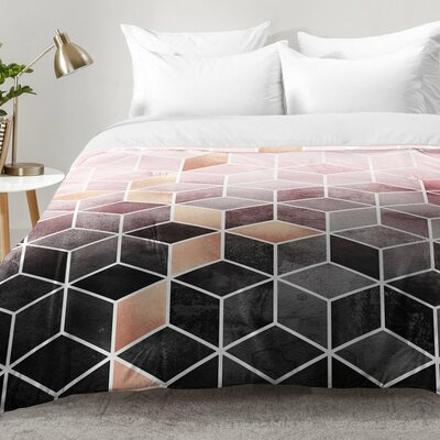 Gradient Cubes Comforter Set Size: Full/Queen