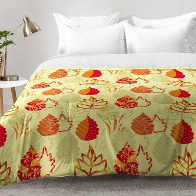 Rosie Brown Autumn Splendor Comforter Set Size: Twin XL
