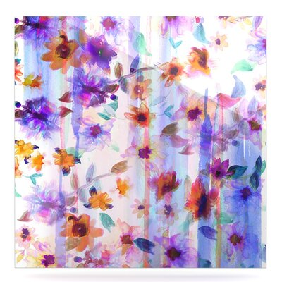 'Floral Ombre' Graphic Art Print on Metal EAHU8795 37866825