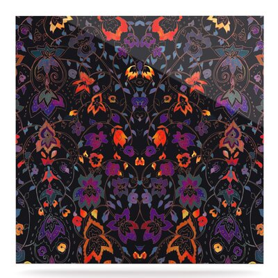 Dark 'Bali Tapestry' Graphic Art Print on Metal EAHU8794 37866823