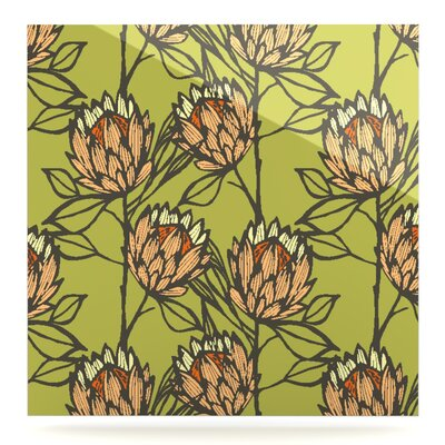'Protea' Graphic Art Print on Metal in Green EAHU7795 37861389