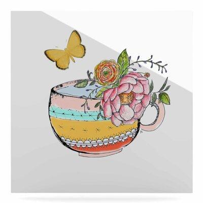 'Tea Cup Vase' Graphic Art Print on Metal EUHH1021 37880251