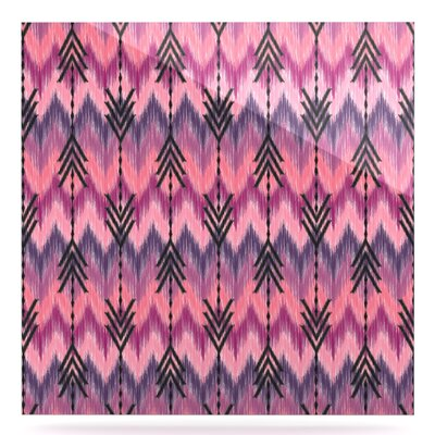 'Orchid Chevron Arrows' Graphic Art Print on Metal EUHH3520 37888171