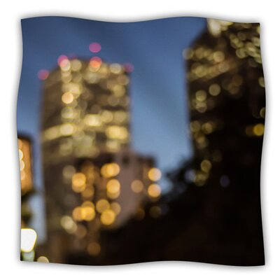 Nola at Night by Ann Barnes Fleece Blanket Size: 60 L x 50 W
