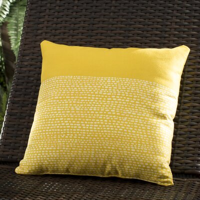 Buckland Throw Pillow Size: 16 H x 16 W x 4 D, Color: Yellow