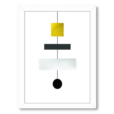 "Geometric Art 30 Framed Graphic Art Size: 20.5"" H x 26.5"" W x 1.5"" D, Frame Color: White UNFP6960 33487176"
