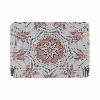 Alison Coxon Boho Dream Olive Memory Foam Bath Rug Size: 0.5 H x 17 W x 24 D, Color: Pink/Blue