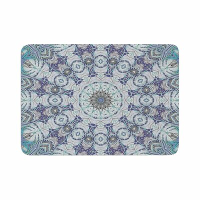 Alison Coxon Jungle Kaleidoscope Cool Memory Foam Bath Rug Size: 0.5 H x 24 W x 36 D, Color: Blue/Purple