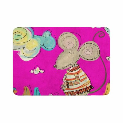 Carina Povarchik Urban Mouse Memory Foam Bath Rug Size: 0.5 H x 17 W x 24 D, Color: Magenta/Pink