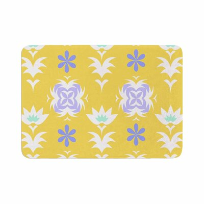 Alison Coxon Edwardian Tile Memory Foam Bath Rug Size: 0.5 H x 17 W x 24 D, Color: Yellow