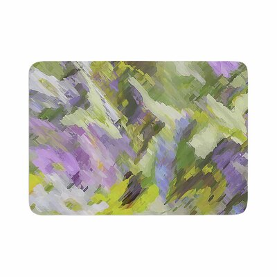 Alison Coxon Giverny Pattern Memory Foam Bath Rug Size: 0.5 H x 24 W x 36 D