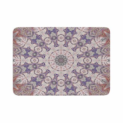 Alison Coxon Jungle Kaleidoscope Cool Memory Foam Bath Rug Size: 0.5 H x 24 W x 36 D, Color: Coral/Purple