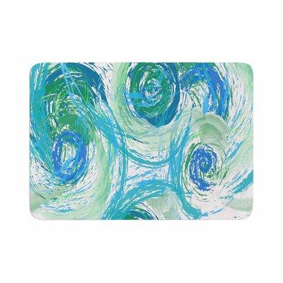 Alison Coxon Sophia Memory Foam Bath Rug Size: 0.5 H x 24 W x 36 D, Color: Green/Blue