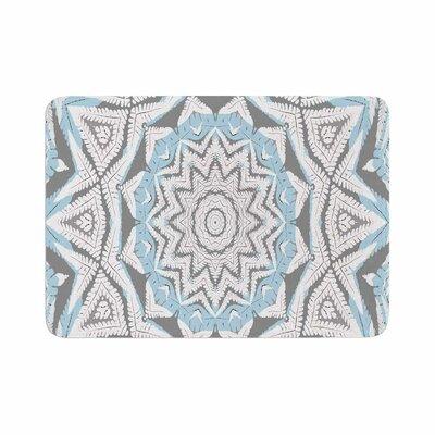 Alison Coxon Plant House Mandala Digital Memory Foam Bath Rug Size: 0.5 H x 17 W x 24 D, Color: Blue/Beige