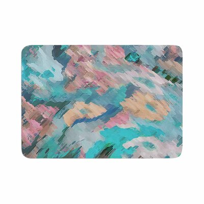 Alison Coxon Giverny Abstract Memory Foam Bath Rug Size: 0.5 H x 24 W x 36 D