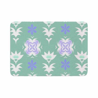 Alison Coxon Edwardian Tile Memory Foam Bath Rug Size: 0.5 H x 24 W x 36 D, Color: Blue