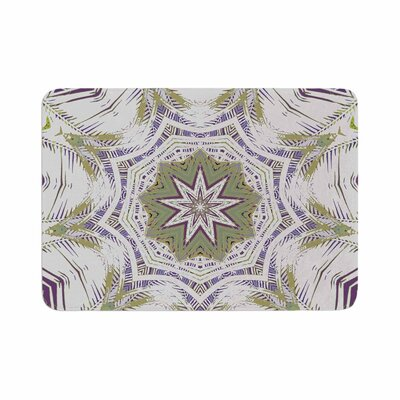 Alison Coxon Boho Dream Olive Memory Foam Bath Rug Size: 0.5 H x 24 W x 36 D, Color: Purple/Green