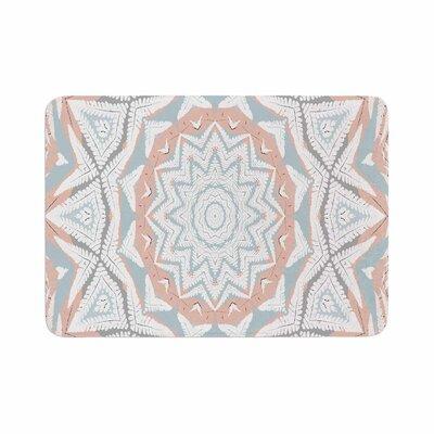 Alison Coxon Plant House Mandala Digital Memory Foam Bath Rug Size: 0.5 H x 17 W x 24 D, Color: Coral/Blue