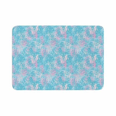 Carolyn Greifeld Painterly Abstract Memory Foam Bath Rug Size: 0.5 H x 17 W x 24 D, Color: Pastel/Blue