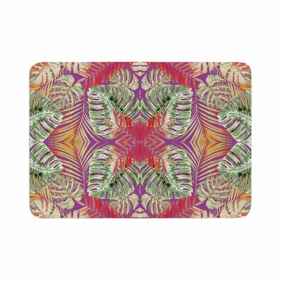 Alison Coxon Summer Jungle Love Memory Foam Bath Rug Size: 0.5 H x 24 W x 36 D, Color: Purple