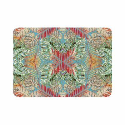 Alison Coxon Summer Jungle Love Memory Foam Bath Rug Size: 0.5 H x 17 W x 24 D, Color: Blue