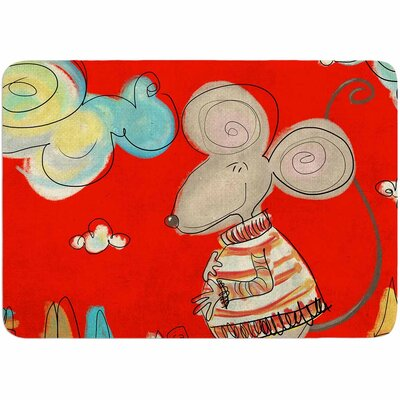 Carina Povarchik Urban Mouse - Magenta Memory Foam Bath Rug Color: Red