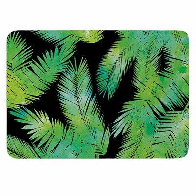 Draper Tropic Breeze Memory Foam Bath Rug Color: Black/Green