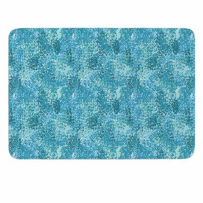 Carolyn Greifeld Painterly Memory Foam Bath Rug Color: Blue/White