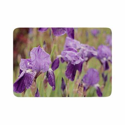 Angie Turner Irises Floral Memory Foam Bath Rug Size: 0.5 H x 24 W x 36 D