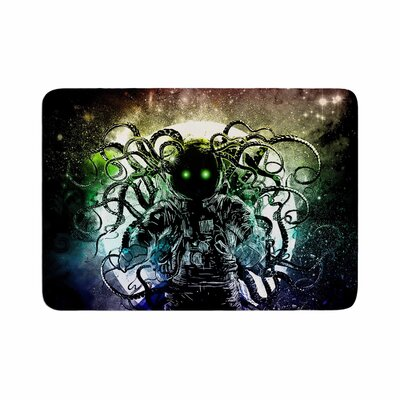 Frederic Levy Hadida Terror From Deep Space Memory Foam Bath Rug Size: 0.5 H x 17 W x 24 D