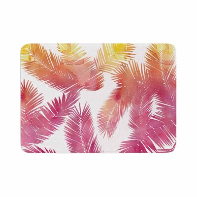 Draper Tropic Love Abstract Memory Foam Bath Rug Size: 0.5 H x 24 W x 36 D