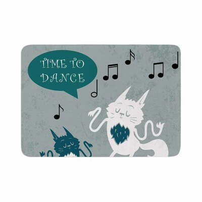 Anya Volk Time to Dance Memory Foam Bath Rug Size: 0.5 H x 17 W x 24 D