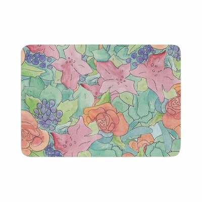 Catherine Holcombe Southwestern Floral Memory Foam Bath Rug Size: 0.5 H x 17 W x 24 D