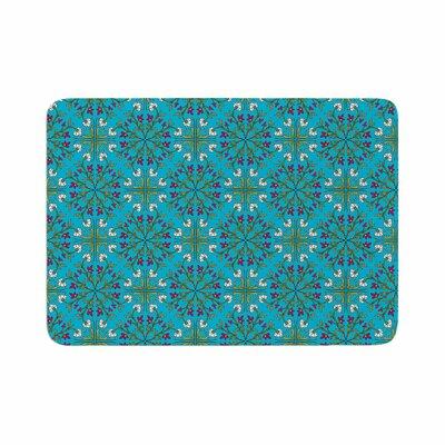 Mayacoa Studio Moroccan Tile Geometric Floral Memory Foam Bath Rug Size: 0.5 H x 17 W x 24 D