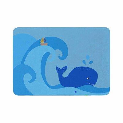 Cristina Bianco Design Whale Memory Foam Bath Rug Size: 0.5 H x 17 W x 24 D