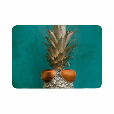 24 Karat Pineapple Digital Memory Foam Bath Rug Size: 0.5 H x 24 W x 36 D
