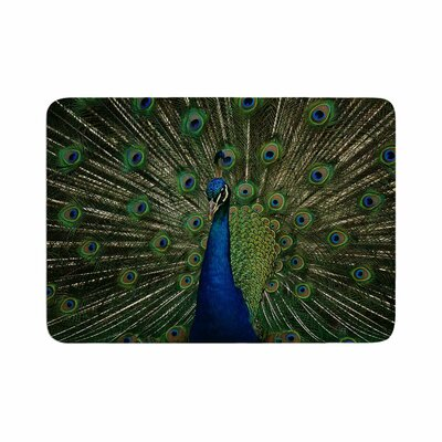 Angie Turner Proud Peacock Animals Memory Foam Bath Rug Size: 0.5 H x 24 W x 36 D