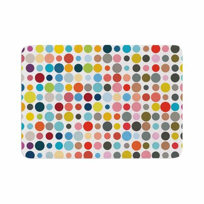 Fimbis Tangled Up in Colour Memory Foam Bath Rug Size: 0.5 H x 17 W x 24 D