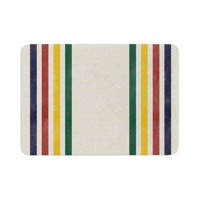 Draper Eagle Scout Stripes Memory Foam Bath Rug Size: 0.5 H x 17 W x 24 D