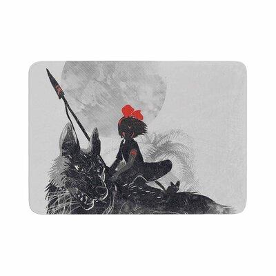 Frederic Levy Hadida Princess Monokiki Fantasy Illustration Memory Foam Bath Rug Size: 0.5 H x 24 W x 36 D