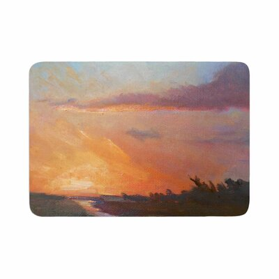 Carol Schiff Hour Over the Marsh Watercolor Memory Foam Bath Rug Size: 0.5