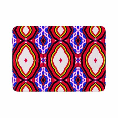 Dawid Roc Inspired by Psychedelic Art 2 Abstract Memory Foam Bath Rug Size: 0.5 H x 24 W x 36 D