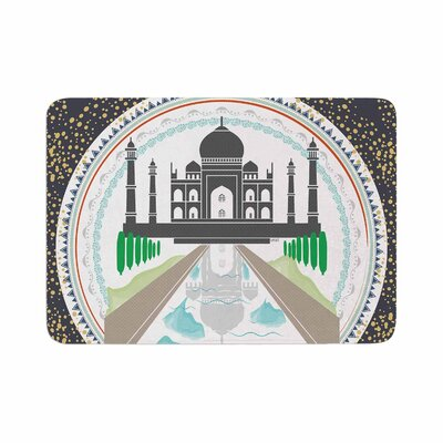 Famenxt the Taj Mahal India Memory Foam Bath Rug Size: 0.5 H x 17 W x 24 D