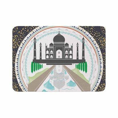 Famenxt the Taj Mahal India Memory Foam Bath Rug Size: 0.5 H x 24 W x 36 D