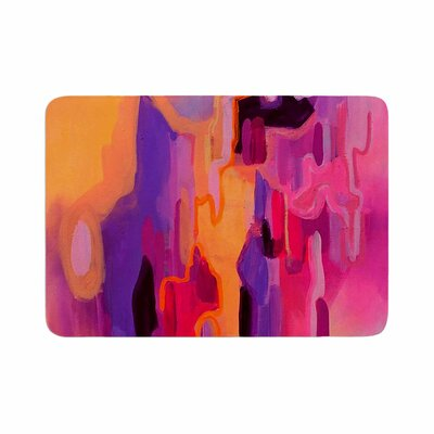 Geordanna Fields Pungent Euphoria Abstract Memory Foam Bath Rug Size: 0.5 H x 17 W x 24 D