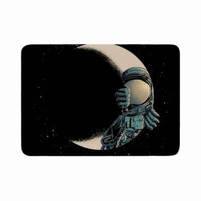 digital carbine Crescent Moon Illustration Memory Foam Bath Rug Size: 0.5 H x 24 W x 36 D