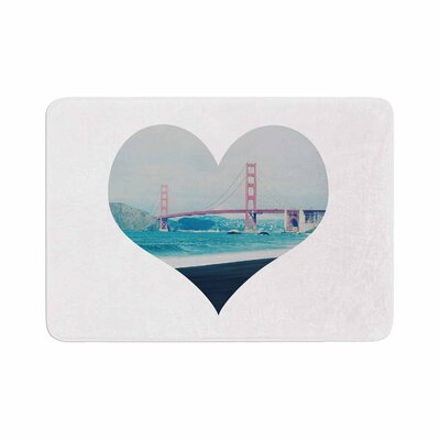 San Francisco Love Coastal Memory Foam Bath Rug Size: 0.5 H x 17 W x 24 D