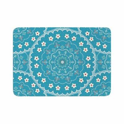 Cristina bianco Design Mandala Floral Memory Foam Bath Rug Size: 0.5 H x 24 W x 36 D