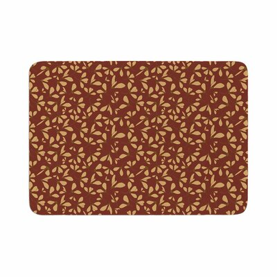 Mayacoa Studio Under the Hour Floral Memory Foam Bath Rug Size: 0.5 H x 17 W x 24 D